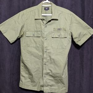 OBEY short sleeve button down